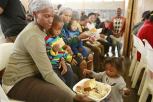 Outside the bowl africa feeding